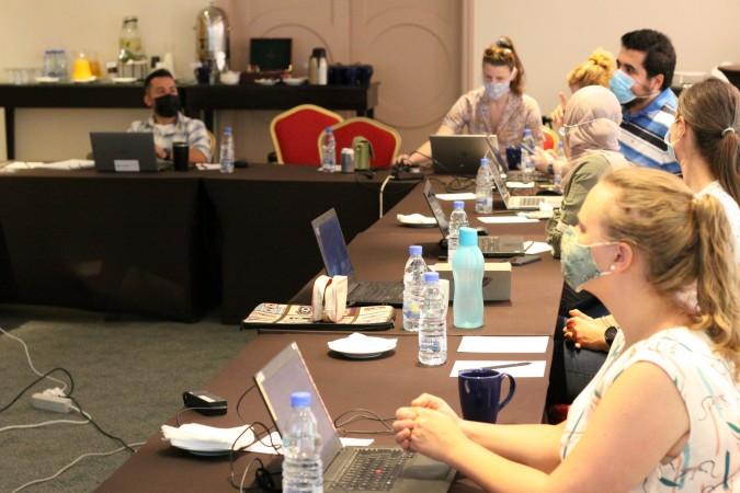Formation Sort-it au Liban sur l'antibio-résistance à laquelle ont participé les équipes de LuxOR