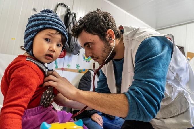 Moria. Lesbos. Grèce. Consultation médicale.