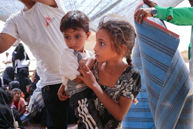 Yemen, MSF, displaced children, Al Hareth Al Maqaleh