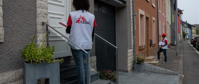 Street marketing. Luxembourg. Équipe MSF.